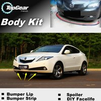 Wholesale For Acura ZDX Front Skirt Deflector Spoiler For Car Tuning The Stig Recommend Body Kit Strip Bumper Lip Lips