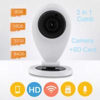 llena la cámara 720P inteligente cámara de red IP de Seguridad de alarma inalámbrica Wi-Fi IR HD Mini VEDIO circuito cerrado de televisión P2P leva androide de la ayuda IOS fácil uso