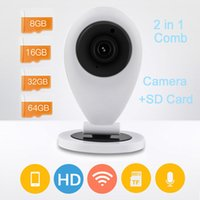 Wholesale Wireless full P Smart Camera Network IP Security Camera HD Mini IR WiFi VEDIO alarm CCTV P2P cam Support Android IOS easy use