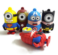 Wholesale Full Capacity GB GB GB GB Pendrive Cartoon Minions USB Stick USB Flash Drive Pen Drive Memory Stick U Disk