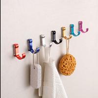 aluminum coat rack - Aluminum Candy Color Decorative Wall hooks racks Clothes hanger Metal Towel coat Robe hook Bathroom Accessories