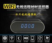 Wholesale HOT P Hidden Camera Wifi clock camera Remote Wireless Camcorder Desk clock camera Z10 Clock Camera