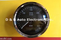 Wholesale 1pc Brand New Kus Tachometers Speedometers RPM For Yacht Speed Boat Auto Truck Black
