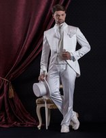 baroque pant - Custom Made Men s Waistcoat Man s Suit Baroque style Groom Tuxedos Groomsman Suit Evening Suits Jacket Pants Vest