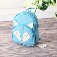 Wholesale Little fox zipper amphibious can shoulders can shoulder mini bag New Kids Backpacks for girls