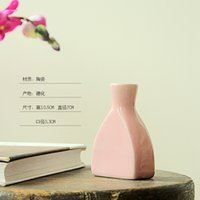 Wholesale Direct Deal Glazed Ceramic Vase Environmental Protection Material Home Decoration Country Side Styl Garden Planting Sets
