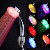 Wholesale 2016 Hot Sale Newest Colorful Head Home Bathroom Colors Changing LED Shower Water Glow Light Bathroom Shower Heads