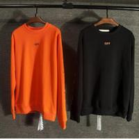 big pullover hoodies - 2016 New top version vlone x off white virgil abloh hoodie big V printed hiphop Kanye West women men hoodies sweatershirt