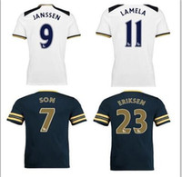 Wholesale Top thai quality Tottenham football jersey Quarter adults tees Free number printed KSD