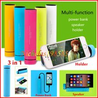 bank smart card - New in Multifunction Mini Portable Bluetooth Speaker mAh Power Bank With Bluetooth Shutter Phone Stand TG01 For Smart Phone