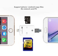 Wholesale New in iFlash USB SDHC Micro SD TF OTG Card Reader for Android iPhone Plus iPad White