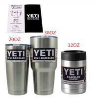 Wholesale yeti Bilayer Stainless Steel Insulation Cup OZ OZ OZ Cups Travel Vehicl Beer Mug Rambler Tumbler