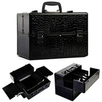Wholesale Pro quot x9 quot x10 quot Aluminum Makeup Train Case Jewelry Box Cosmetic Organizer