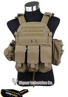 Wholesale TMC style Plate Carrier w pouches Matte CB Combat gear wargame military airsoft army TMC1893 Genuine Coyote Brown