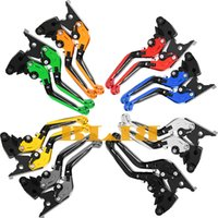 Wholesale 8 Colors Foldable And Extending Levers For Kawasaki Z750 Z800 E Version Motorcycle CNC Adjustable Folding And Extendable Brake Clutch Levers