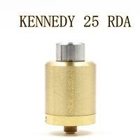 Vaporizador KENNEDY 25 RDA atomizadores 25 mm Diámetro SS Negro de latón de cobre rojo PEEK aislante E Cigs Fit Box 510 Mod libre de DHL