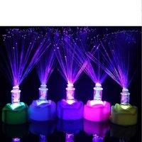 Wholesale New Led Fiber Optic Rose Candle Lamp Nightlight LED Colorful Children s Toys