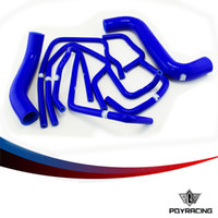Wholesale PQY STORE Blue Silicone Radiator Hose Kit for Subaru Impreza GDB GDA WRX STI PC VR LX C BL