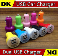 auto choice cars - 100pcs Micro Auto Universal Dual USB Car Charger For iPad for iPhone V A Mini Adapter Color for Choice