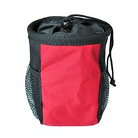 bag food dog - Hot Sale Portable Pet Dog Puppy Walking Food Treat Snack Pouch Training Bag With Waist Belt Side Pockets Pet Necessary JJ0114