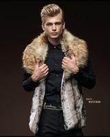 Wholesale Man Fur Vest Imitation Rabbit Fur Jacket Coat Warm Casual Loose Handsome Windbreaker Autumn and Winter Fashion