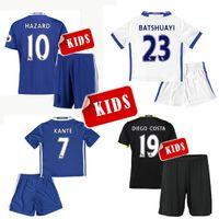 Wholesale 2016 Short Sleeve KIDS KIT Jersey Camisa Shirt Camiseta KID CHILD Maillot Premiers Blue Black