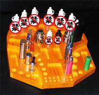 wooden base - Multifunction Rich E Cig Standing Display Wooden Vape Stands Shelf Holder Base For Ego Battery Box Mods E Liquid Bottles Tank Atomizer
