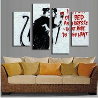 art wanted - Set Banksy Art What More Do You Want wall pictures abstract oil painting