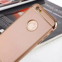 Wholesale New i6 plus Case Luxury Removable in Electroplating Hard Plastic Phone Case Back Cover For iphone s plus