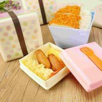 Cheap Rilakkuma Lunch Box Japanese Bento Box Double Square Bowl Of Instant Noodles Soup Can Microwave Plastic Small Portable Lunch