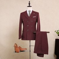Cheap Double Breasted Pinstripe Suit | Free Shipping Double