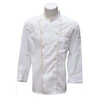 Wholesale 2016 New Chef Uniform Long Sleeve Cook Work Clothes Overalls for Unisex Superior Fabric Gloden Button Anti dust Delicate Craft Durable