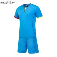 Wholesale Benwon New style men s customized soccer jerseys adult personal football uniforms outdoor sportswear kits mens football short t shirt