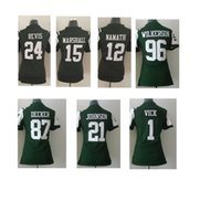 Wholesale 2016 Game NIK Game Football Stitched jets24 Revis Namath Marshall Johnson Vick Eric Decker Wilkerson Green Jerseys