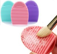 Wholesale 2016 Brush Egg Brushegg Silicone Brush Cleaning Egg Cosmetic Brush Cleanser Make up Makeup Brush Cleaner Clean tool