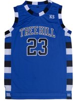 Wholesale The film version of One Tree Hill Lucas Scott Need double stitched mesh basketball jersey Size S XXL
