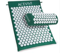 acupressure pillow - Brand Massager Cushion Acupressure Mat Relieve Stress Pain Acupuncture Spike Yoga Mat with Pillow