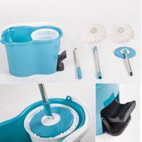 Wholesale Microfiber Spinning Mop Easy Floor Mop Bucket Heads Rotating Head Blue