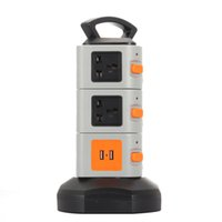 Wholesale KKMOON JW Vertical Multi Socket Layers with Outlets and Ports A USB Smart Power Sockets Multi Protection DHL PA3648