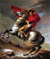 Oil Painting alps canvas - Jacques Louis David Napoleon Crossing the Alps on White Horse Hand painted Art oil painting on Canvas Home Wall Decor in custom sizes