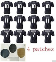 Wholesale Real Madrid Thailand quality All match worn Soccer Jersey Black White Pink RONALDO Soccer Jersey