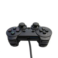 Wholesale Analog Wire Controller Double Vibration Shock for Sony PlayStation controller with Black
