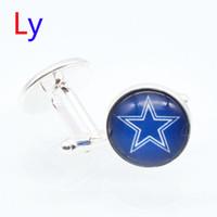 fashion jewelry usa - Fashion super bowl Dallas Cufflinks Jewelry Cowboy Men s Cuff links Metal Cufflink Sets USA football Shirt Accessories YD0036