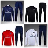 Wholesale 16 new PSG Paris zipper suit long sleeve shirt football training suit jacket home away jacket