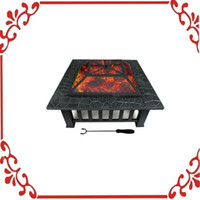 Wholesale Square Stove Fire Pit Mesh Cover Outdoor quot Metal Firepit Backyard Patio Garden