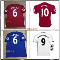 Wholesale 2016 Top Thailand Quality MancHester Jersey home away jerseys UnITED Ibrahimovic MEMPHIS ROONEY POGBA jersey