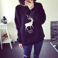 Wholesale 2016 Spring Fashion Women Pullover Hoodies Sweatshirt Warm Cotton Black And White Animal Printed Hoodies Tracksuit Top Clothes Plus Size