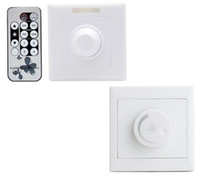Wholesale MOQ2 LED Dimmer Switch V V Wall Mounted Dimming Adjustable Brightness Controller with Remote for LED Bulbs Lighting Lamp