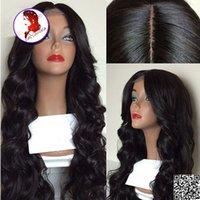 Wholesale Grade A Silk Top Full Lace Wigs Density Body Wave Brazilian Full Lace Human Hair Wigs Black Women Silk Base Wig