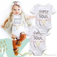 Wholesale 2016 pieces Cotton Newborn Baby Girl Boy cute letter Clothes Bodysuit Romper Jumpsuit Playsuit Outfits